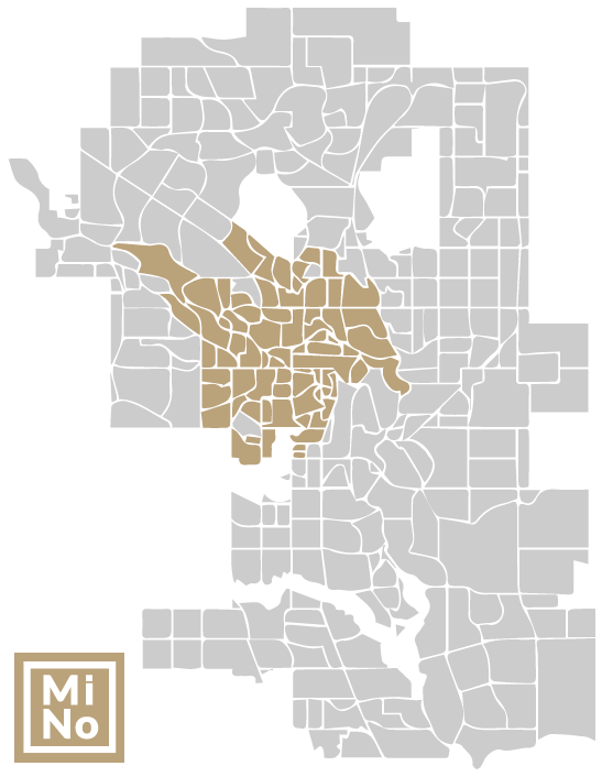 Map of Calgary infill communities